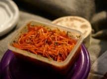 Saladas de cenoura com cara de verão