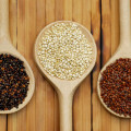 10 Aug 2009 --- Quinoa, black, white and red / (Chenopodium quinoa) --- Image by © Pfeiffer, J./Corbis