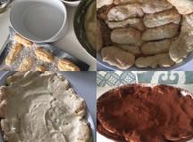 Tiramisu, com biscoito feito em casa