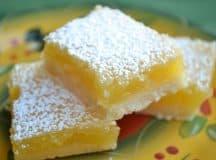 Receita Lemon Bars, dos deuses