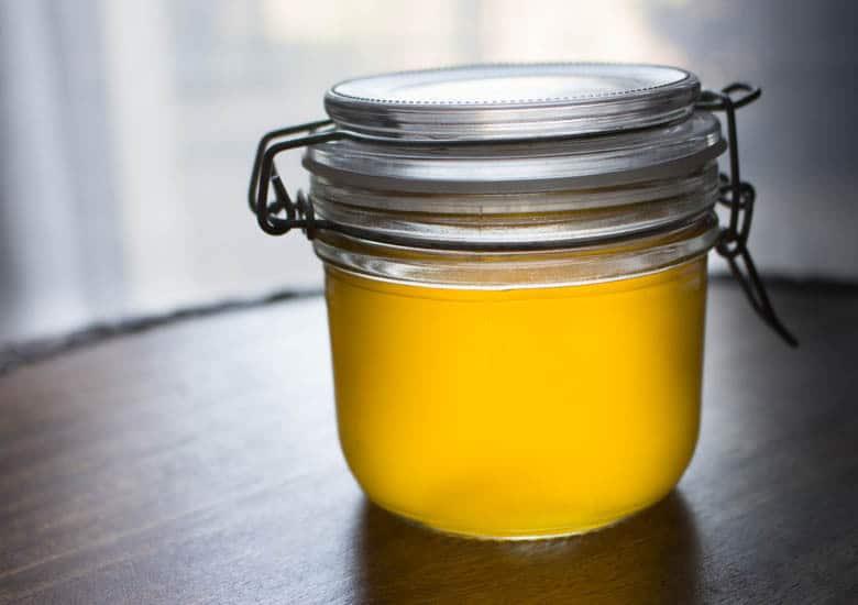 Manteiga clarificada pronta