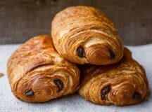 three pain au chocolat