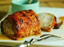 Lombo de porco mostarda e mel