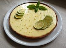 Torta de limão e manjericão