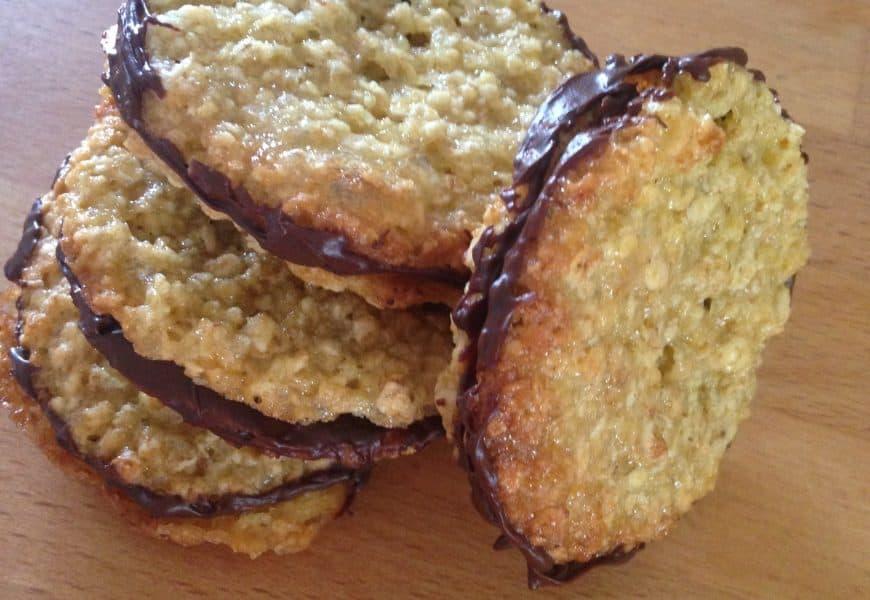 Biscoitos de aveia e chocolate como os do Ikea (Havreflarn)
