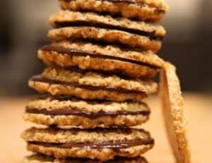 biscoitos de aveia e chocolate