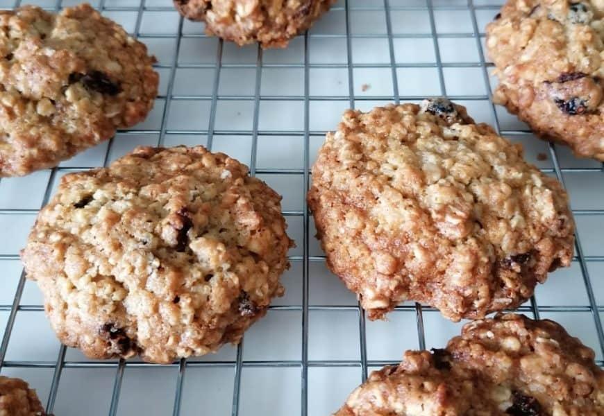 Cookies de aveia crocantes e macios
