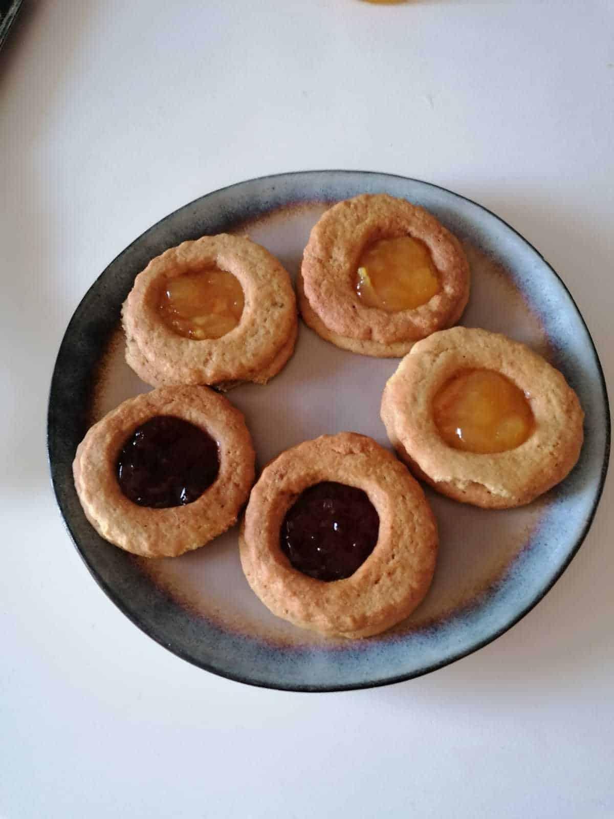 biscoitos de geléia