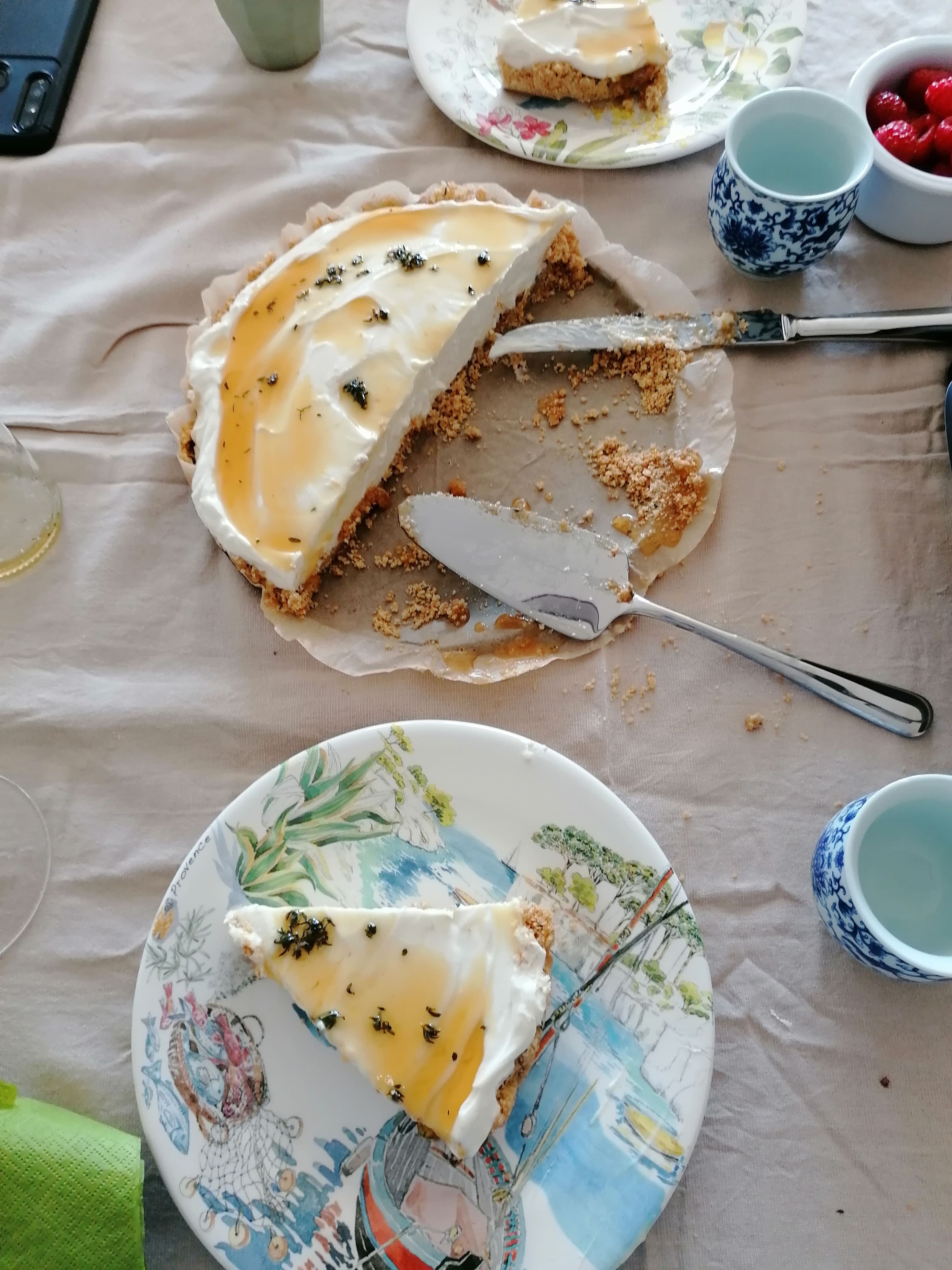 Cheesecake sem forno